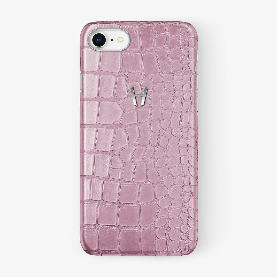 Alligator Case iPhone 7/8 | Pink - Stainless Steel