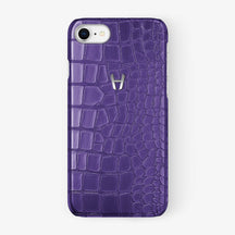 Alligator [iPhone Case] [model:iphone-7-8-case] [colour:purple] [finishing:stainless-steel] - Hadoro