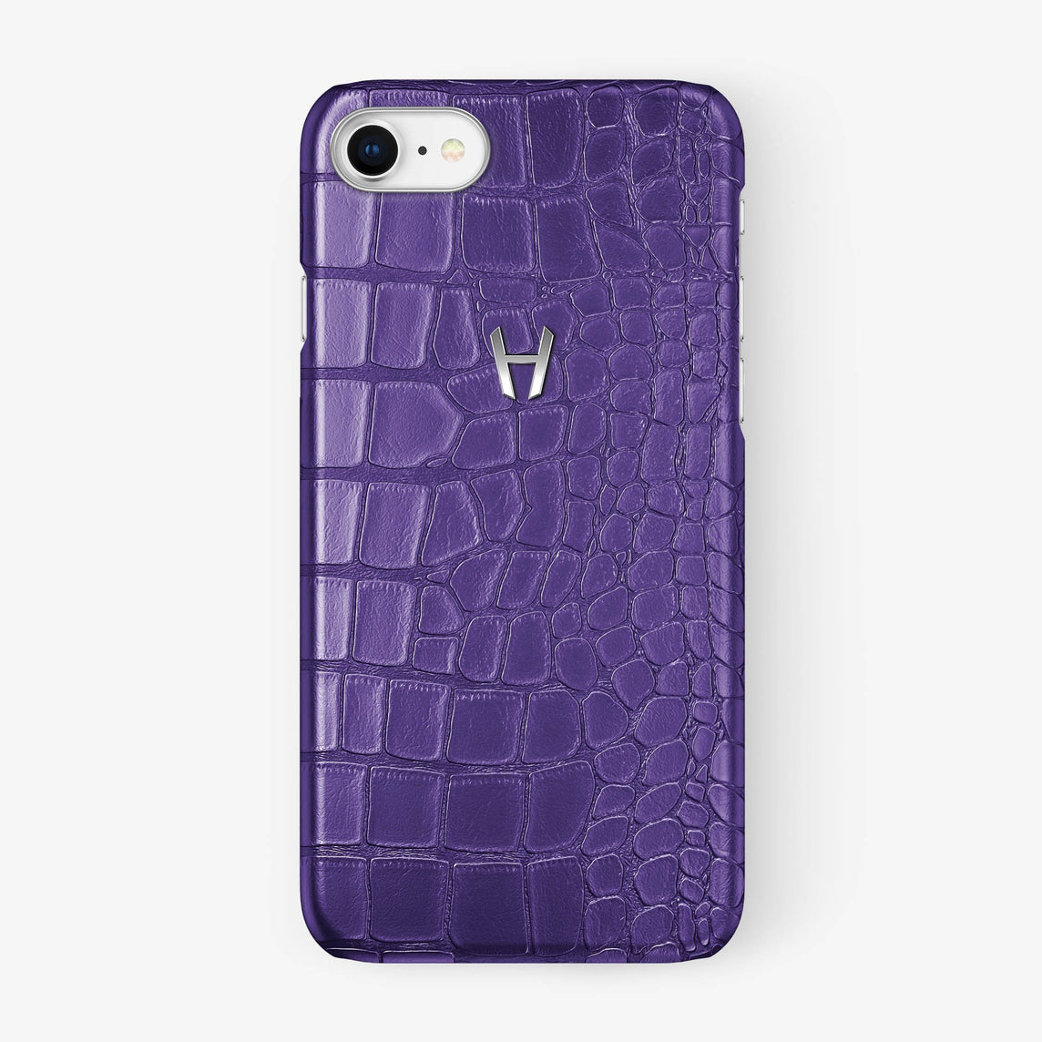 Alligator Case iPhone 7/8 | Purple - Stainless Steel