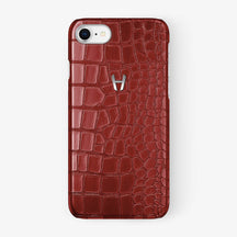 Alligator Case iPhone 7/8 | Red - Stainless Steel