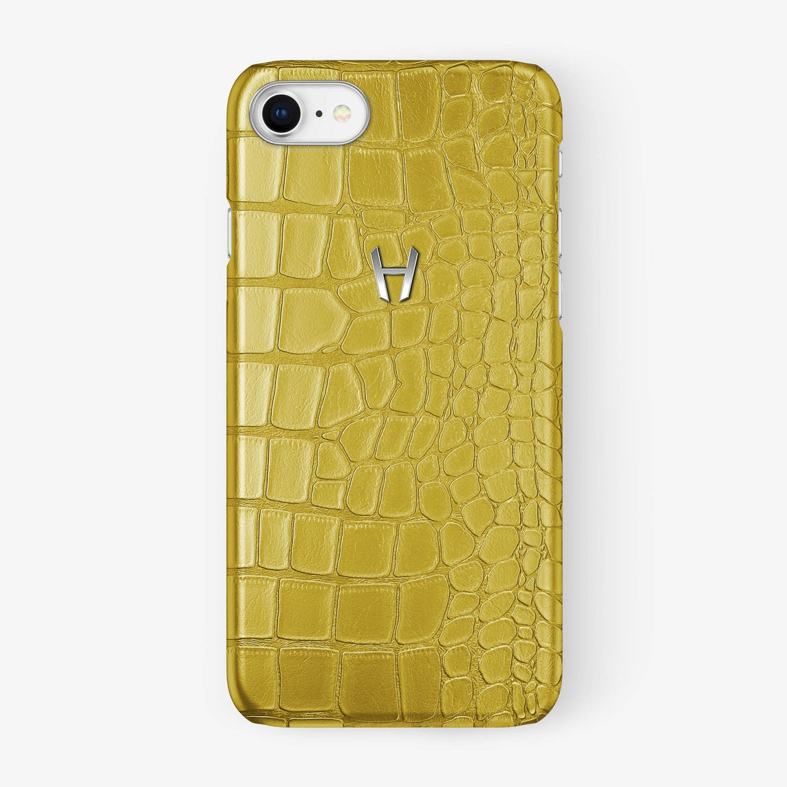 Alligator [iPhone Case] [model:iphone-7-8-case] [colour:yellow] [finishing:stainless-steel] - Hadoro