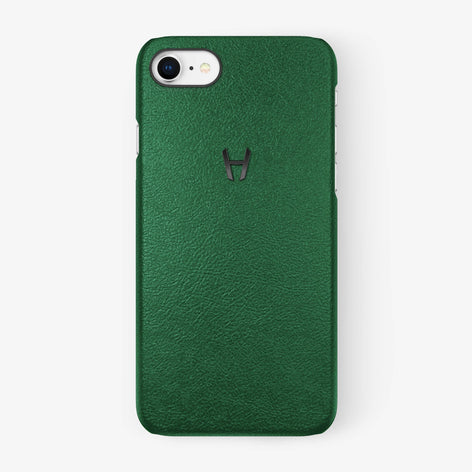 Calfskin [iPhone Case] [model:iphone-7-8-case] [colour:green] [finishing:black]