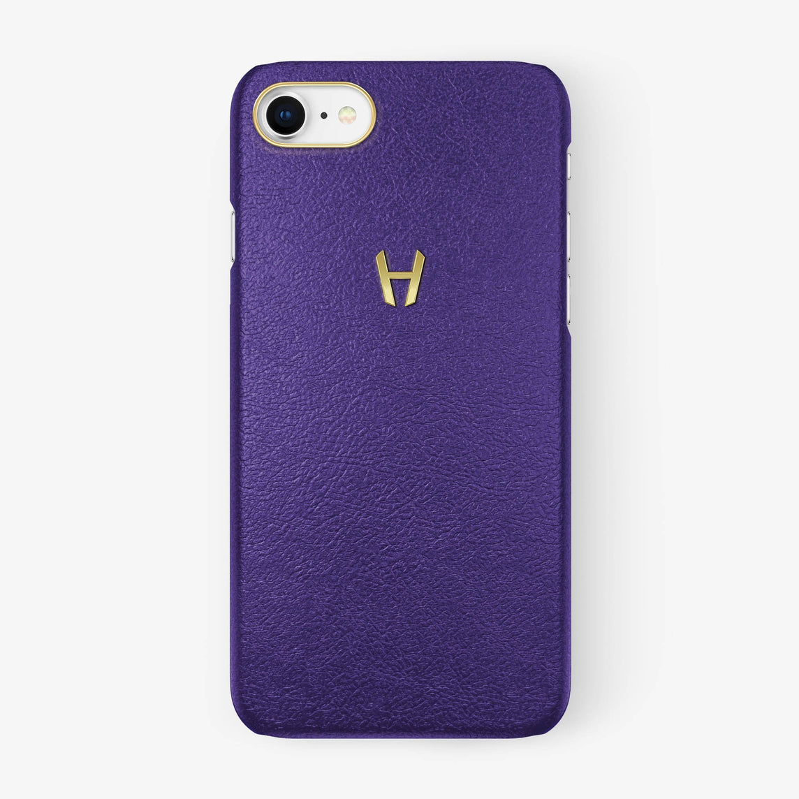 Calfskin Case iPhone 7/8 | Purple - Yellow Gold without-personalization