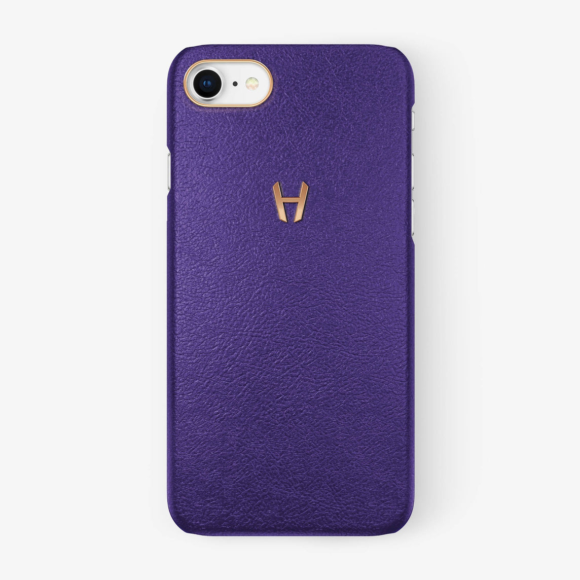 Calfskin Case iPhone 7/8 | Purple - Rose Gold without-personalization