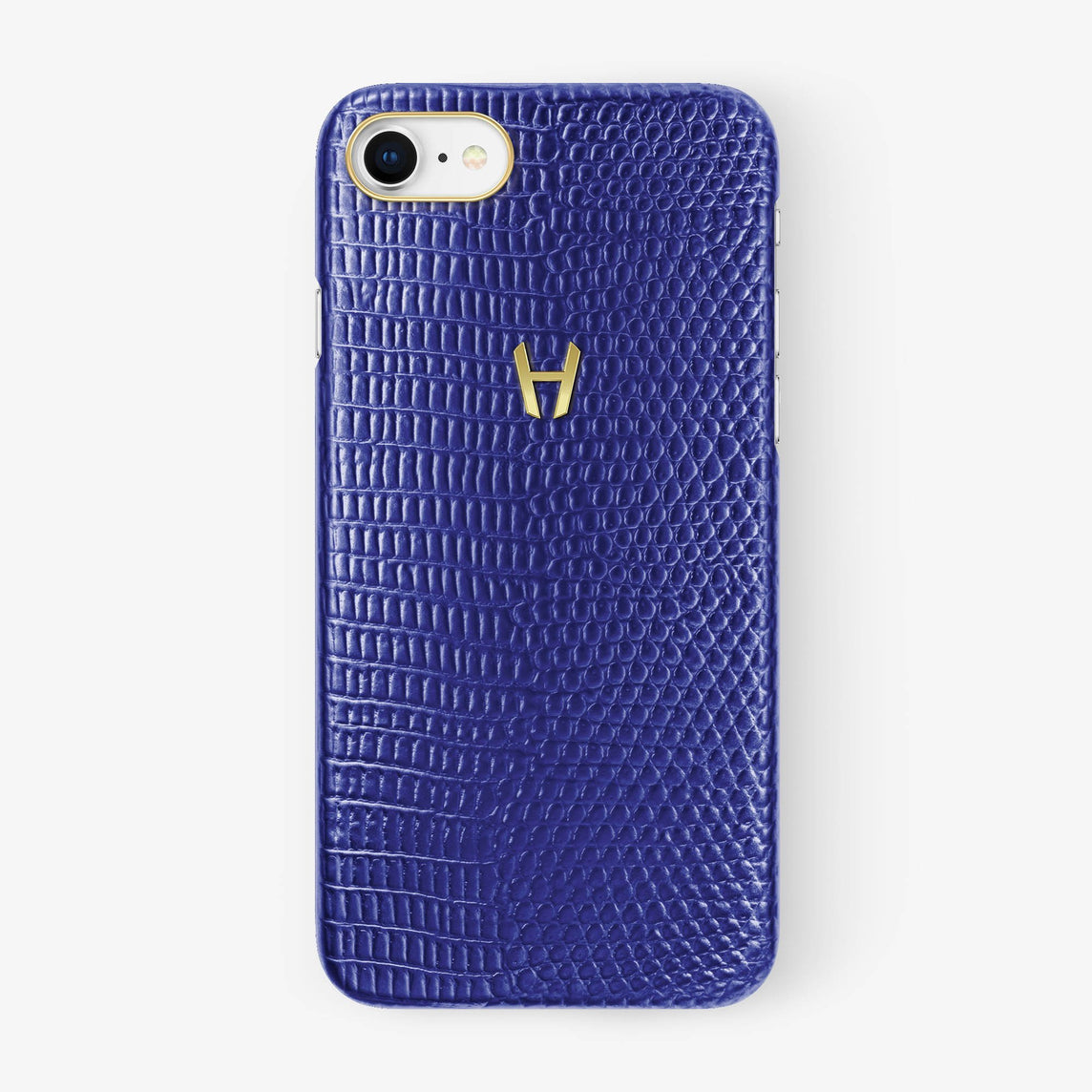 Lizard Case iPhone 7/8 | Blue - Yellow Gold without-personalization