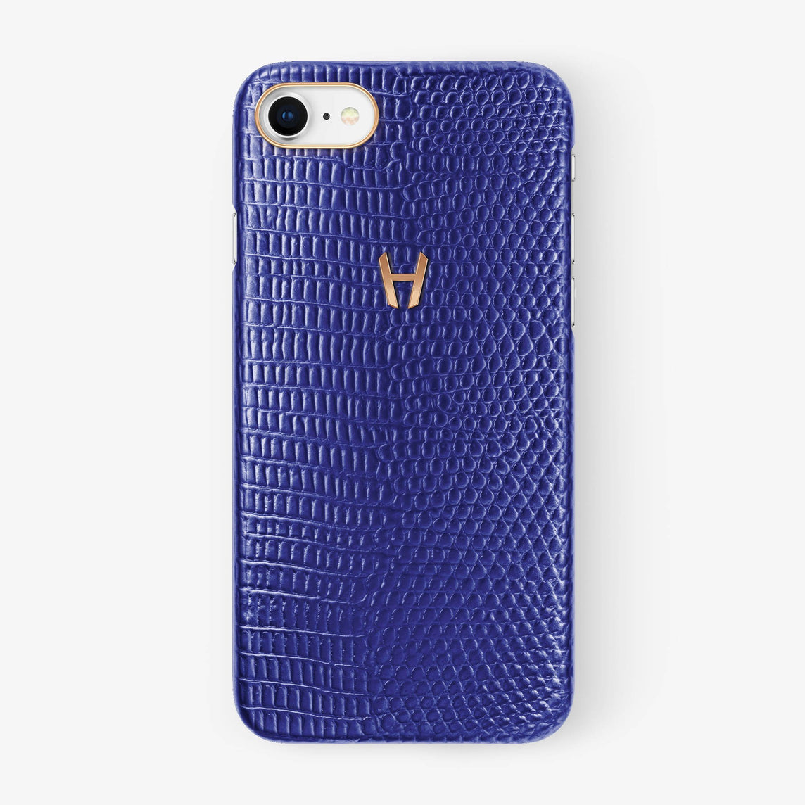 Lizard Case iPhone 7/8 | Blue - Rose Gold without-personalization