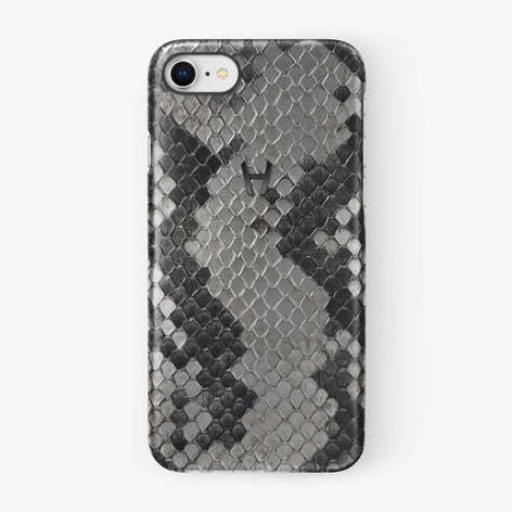 Natural Python iPhone Case for iPhone 7/8 finishing black - Hadoro Luxury Cases
