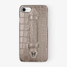 Alligator Finger Case iPhone 7/8 | Latte - Black