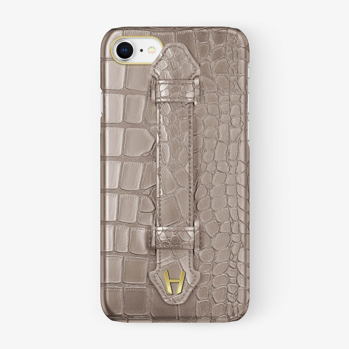 Alligator Finger Case iPhone 7/8 | Latte - Yellow Gold