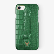 Alligator Finger Case iPhone 7/8 | Green - Rose Gold
