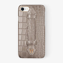 Alligator Finger Case iPhone 7/8 | Latte - Rose Gold
