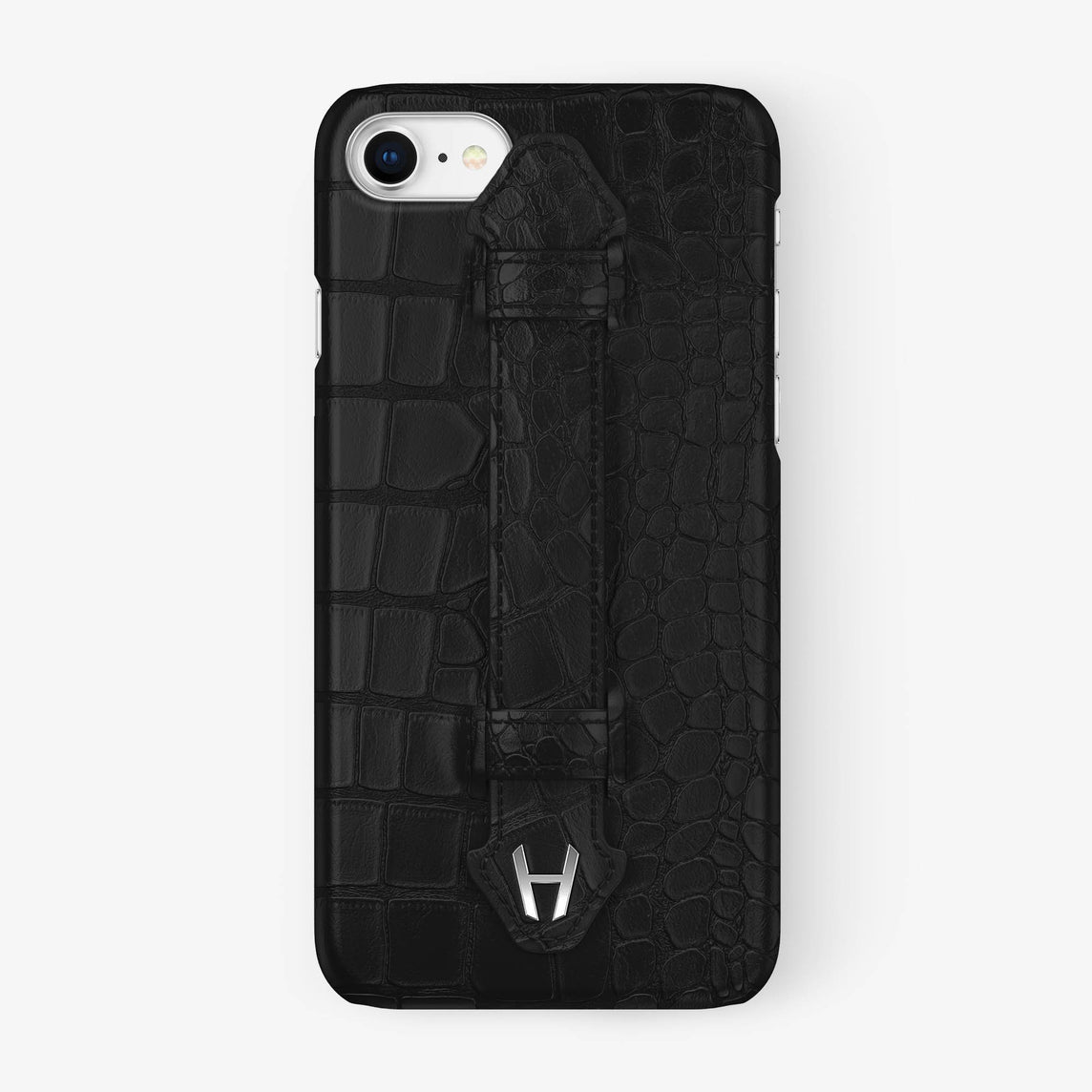 Alligator Finger Case iPhone 7/8 | Phantom Black - Stainless Steel