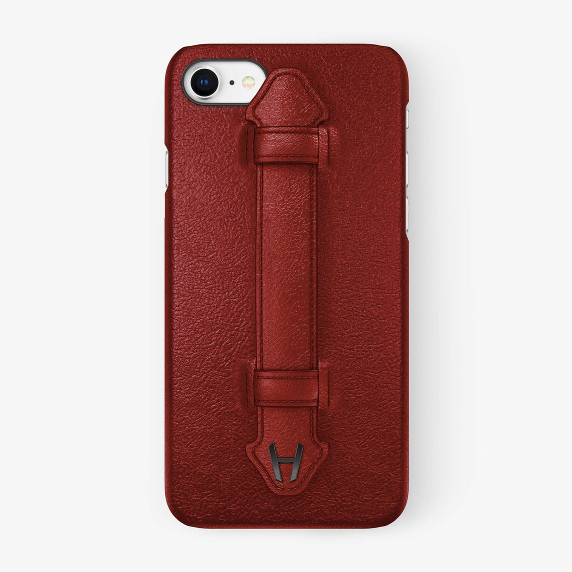 Calfskin Finger Case iPhone 7/8 | Red - Black without-personalization