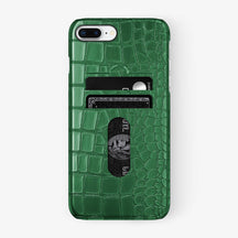 Alligator Card Holder Case iPhone 7/8 Plus | Green - Black - Hadoro