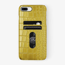 Alligator Card Holder Case iPhone 7/8 Plus | Yellow - Black