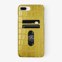 Alligator Card Holder Case iPhone 7/8 Plus | Yellow - Yellow Gold