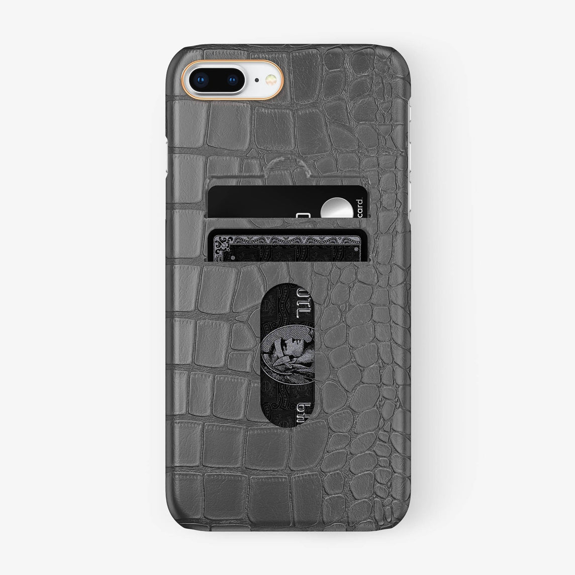 Alligator Card Holder Case iPhone 7/8 Plus | Grey - Rose Gold - Hadoro