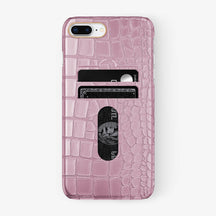 Alligator Card Holder Case iPhone 7/8 Plus | Pink - Rose Gold - Hadoro