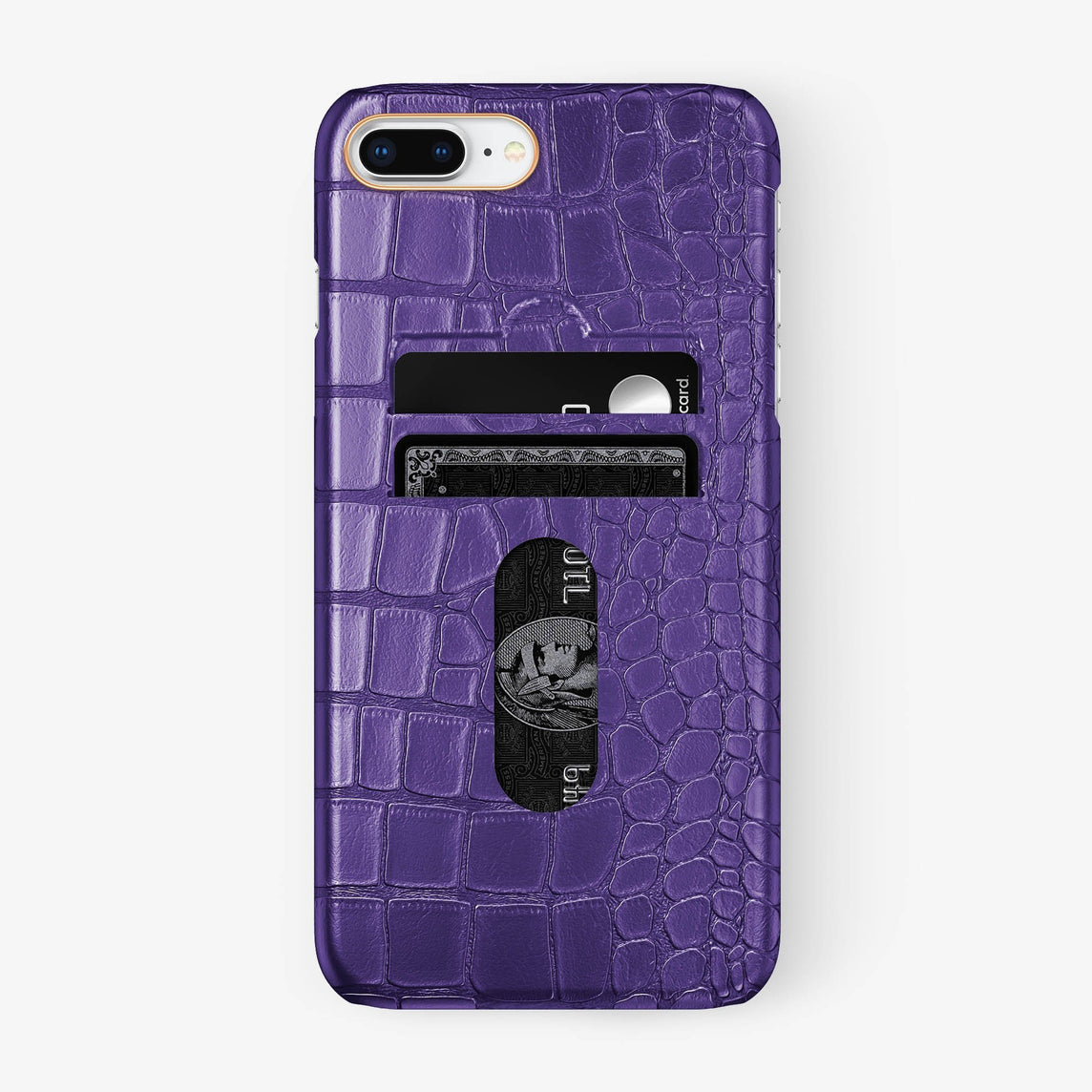 Alligator Card Holder Case iPhone 7/8 Plus | Purple - Rose Gold
