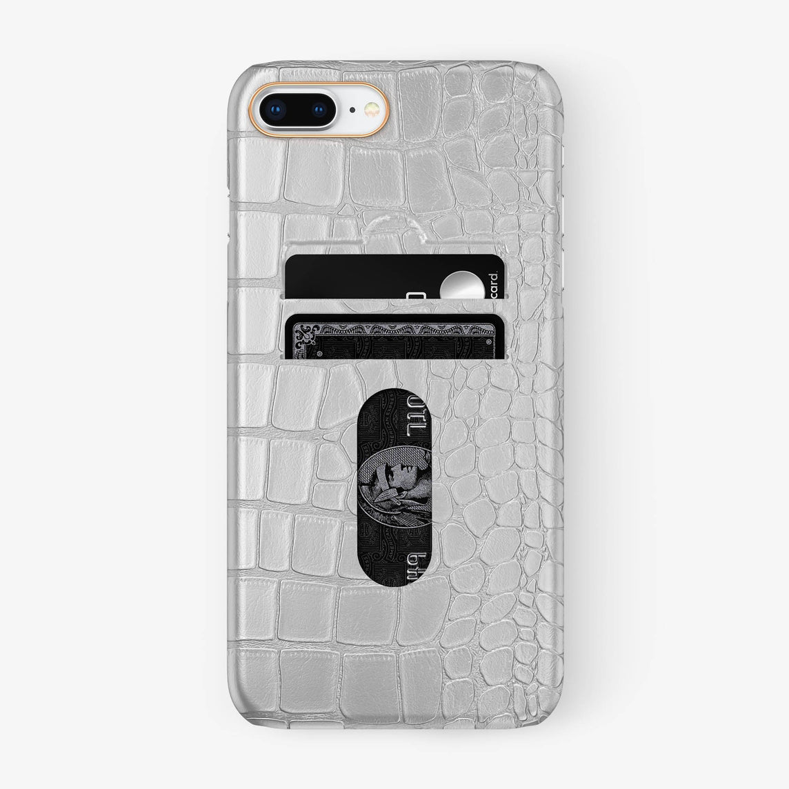 Alligator [iPhone Card Holder Case] [model:iphone-7p-8p-case] [colour:white] [finishing:rose-gold] - Hadoro