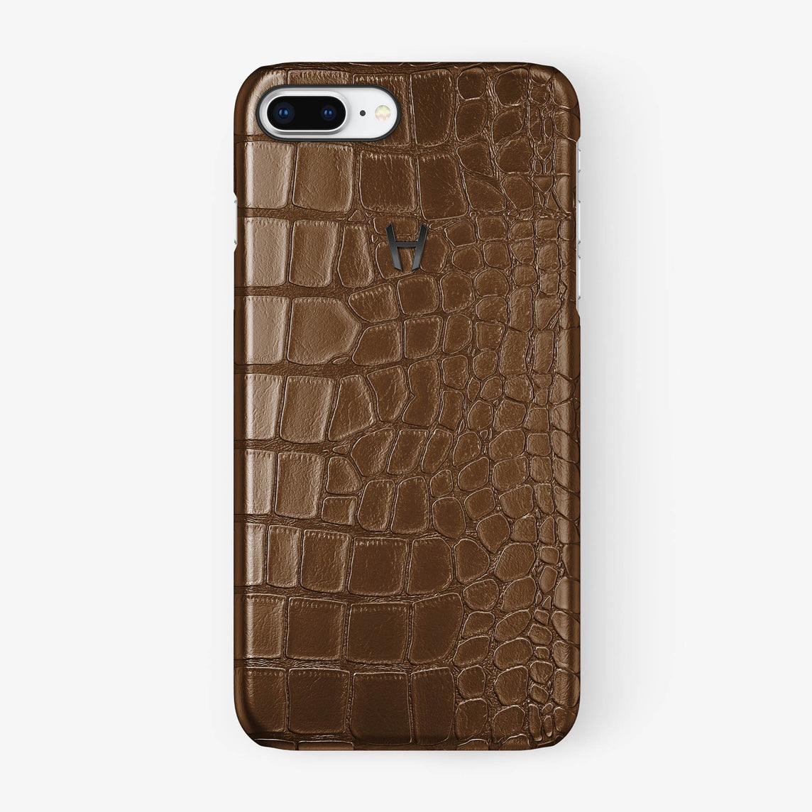 Alligator [iPhone Case] [model:iphone-7p-8p-case] [colour:brown] [finishing:black] - Hadoro