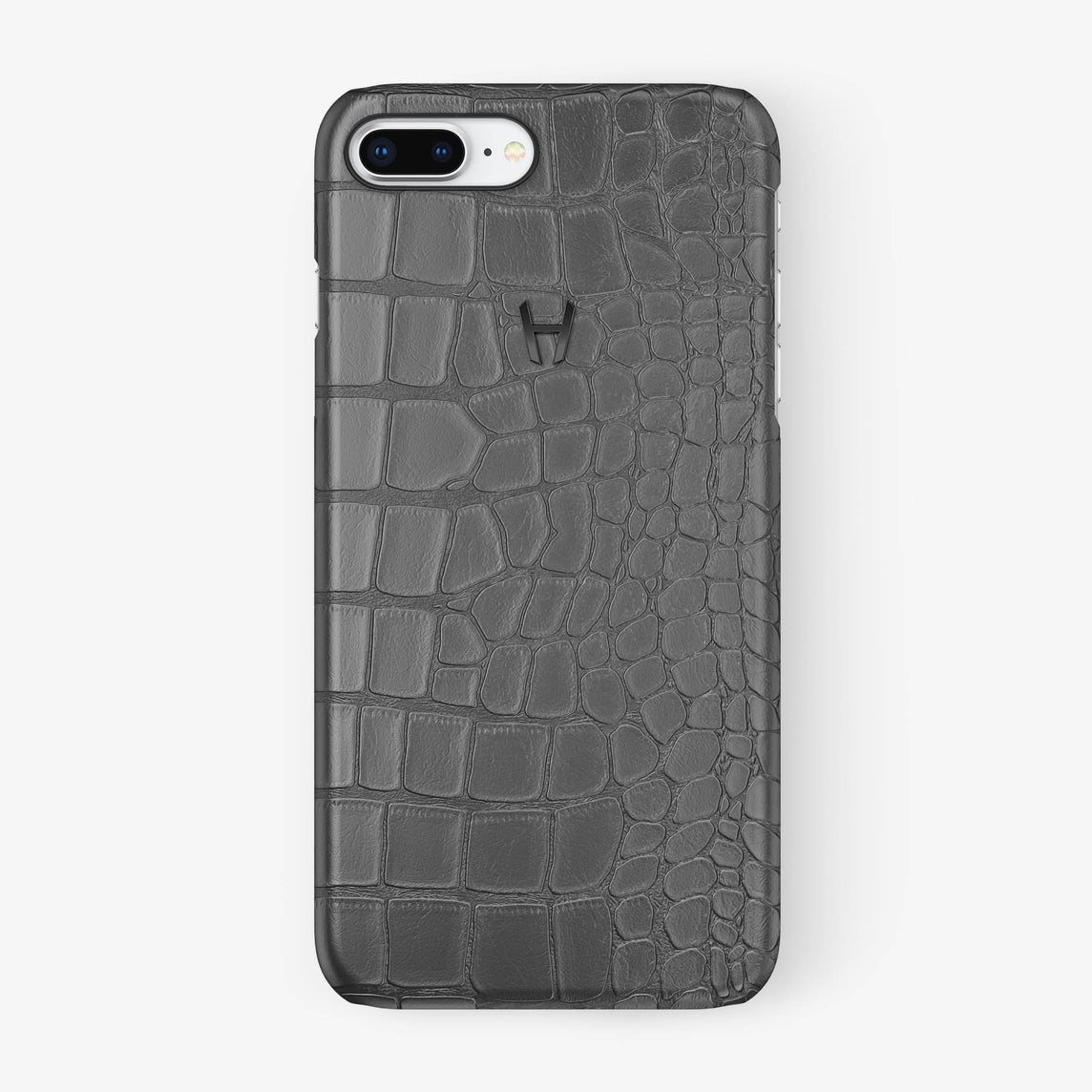 Alligator [iPhone Case] [model:iphone-7p-8p-case] [colour:grey] [finishing:black] - Hadoro