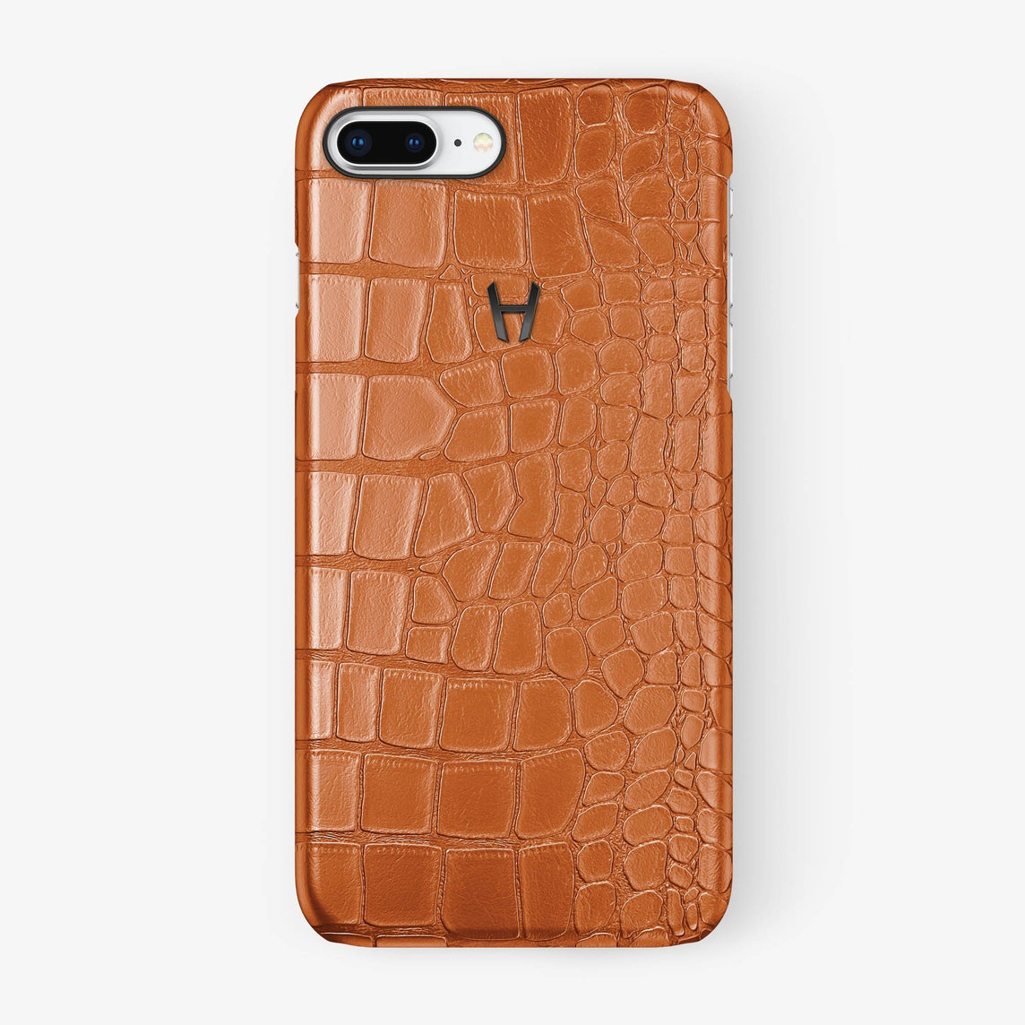 Alligator [iPhone Case] [model:iphone-7p-8p-case] [colour:orange] [finishing:black] - Hadoro