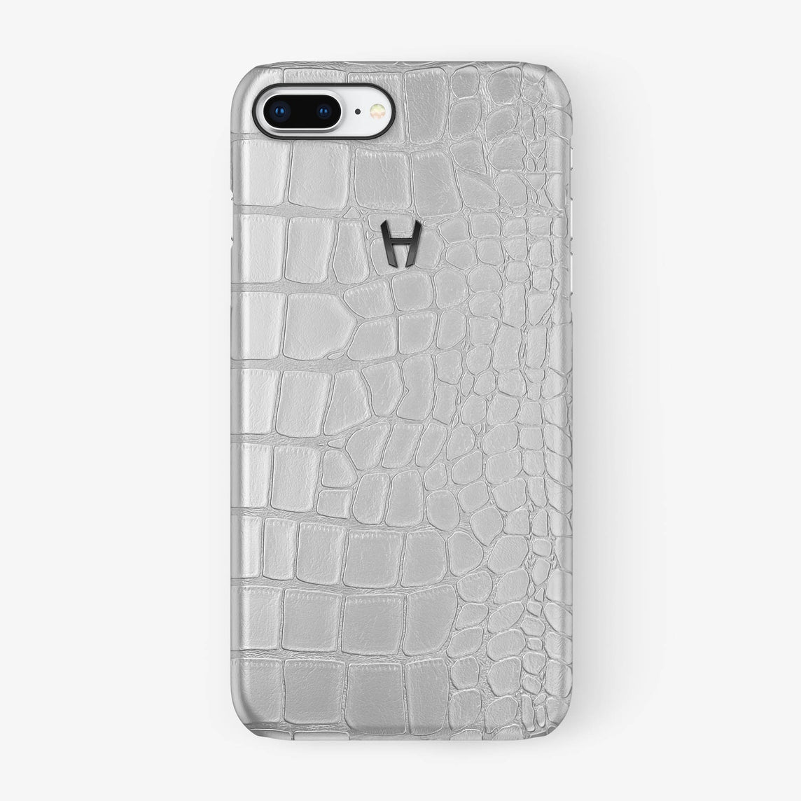 Alligator Case iPhone 7/8 Plus | White - Black - Hadoro
