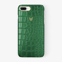 Alligator Case iPhone 7/8 Plus | Green - Yellow Gold - Hadoro