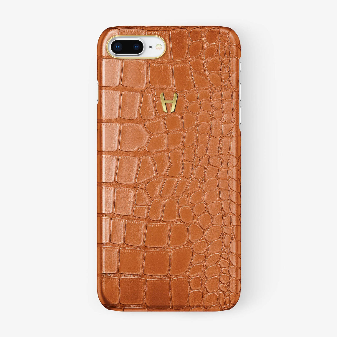 Alligator Case iPhone 7/8 Plus | Orange - Yellow Gold - Hadoro