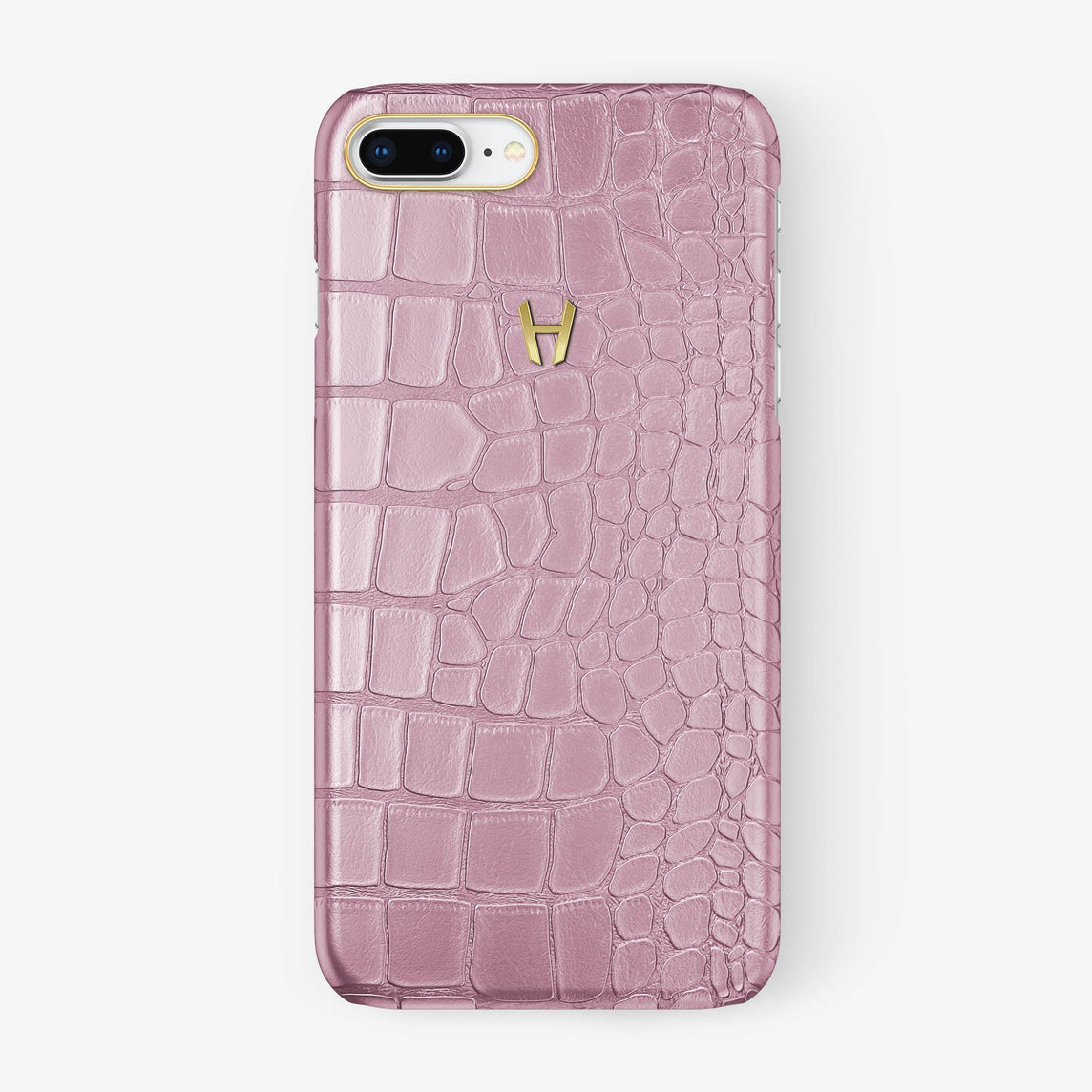 Alligator Case iPhone 7/8 Plus | Pink - Yellow Gold