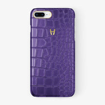 Alligator Case iPhone 7/8 Plus | Purple - Yellow Gold - Hadoro
