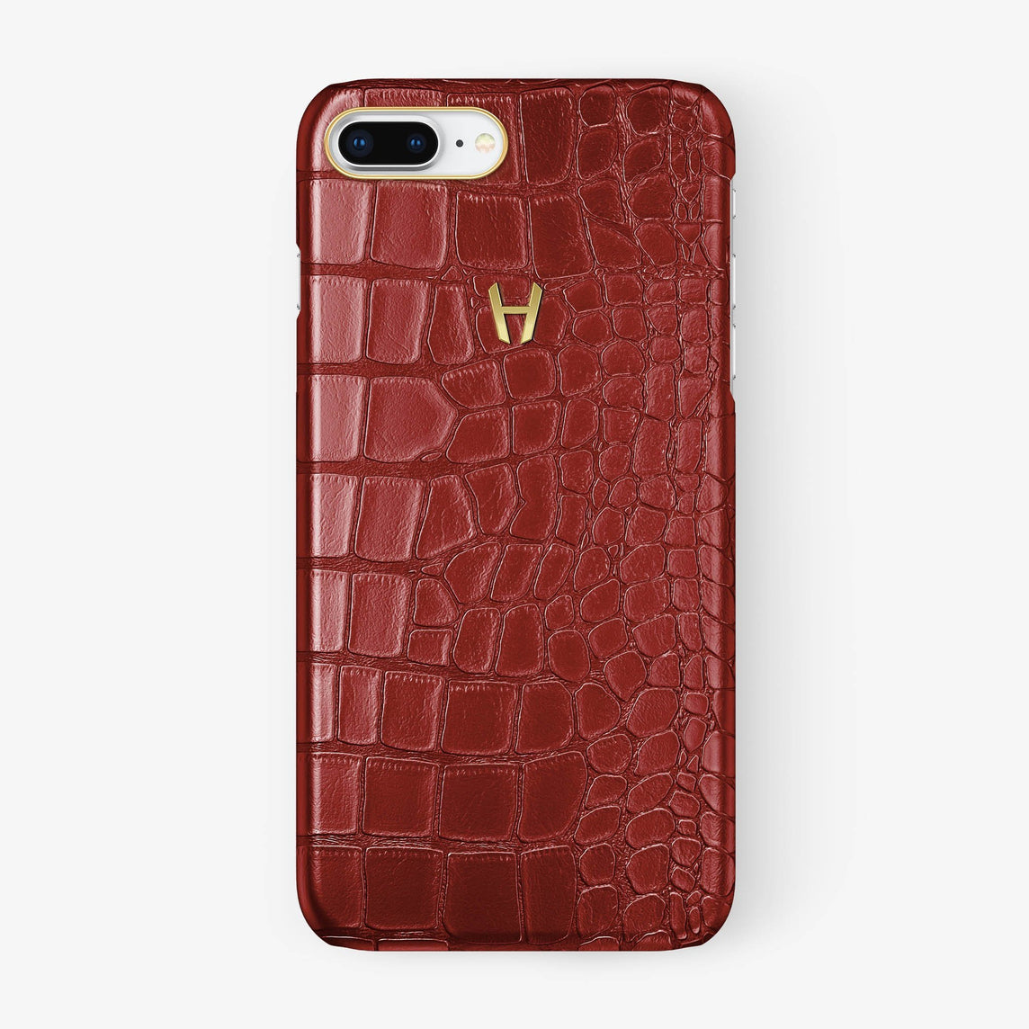 Alligator Case iPhone 7/8 Plus | Red - Yellow Gold - Hadoro