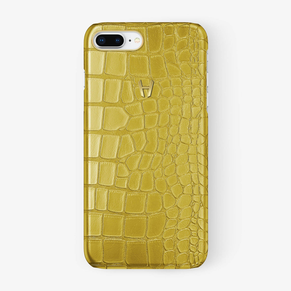 Alligator Case iPhone 7/8 Plus | Yellow - Yellow Gold - Hadoro