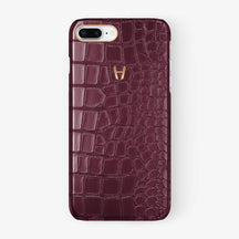 Alligator Case iPhone 7/8 Plus | Burgundy - Rose Gold