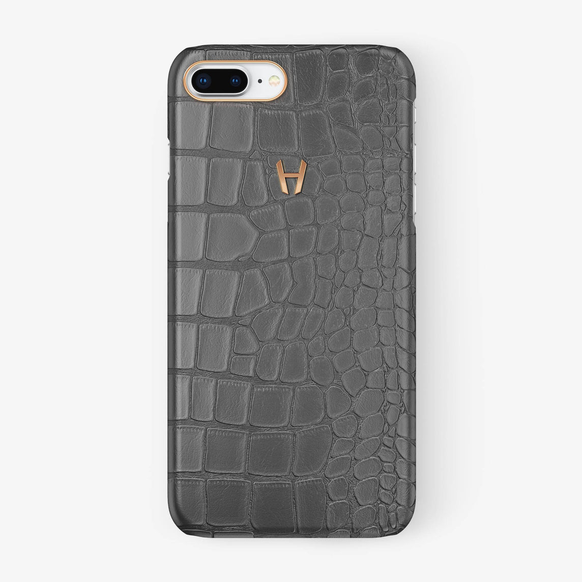 Alligator Case iPhone 7/8 Plus | Grey - Rose Gold