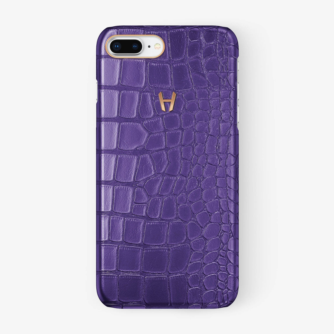 Alligator Case iPhone 7/8 Plus | Purple - Rose Gold