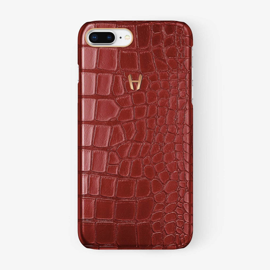 Alligator Case iPhone 7/8 Plus | Red - Rose Gold - Hadoro