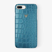 Alligator Case iPhone 7/8 Plus | Teal - Rose Gold