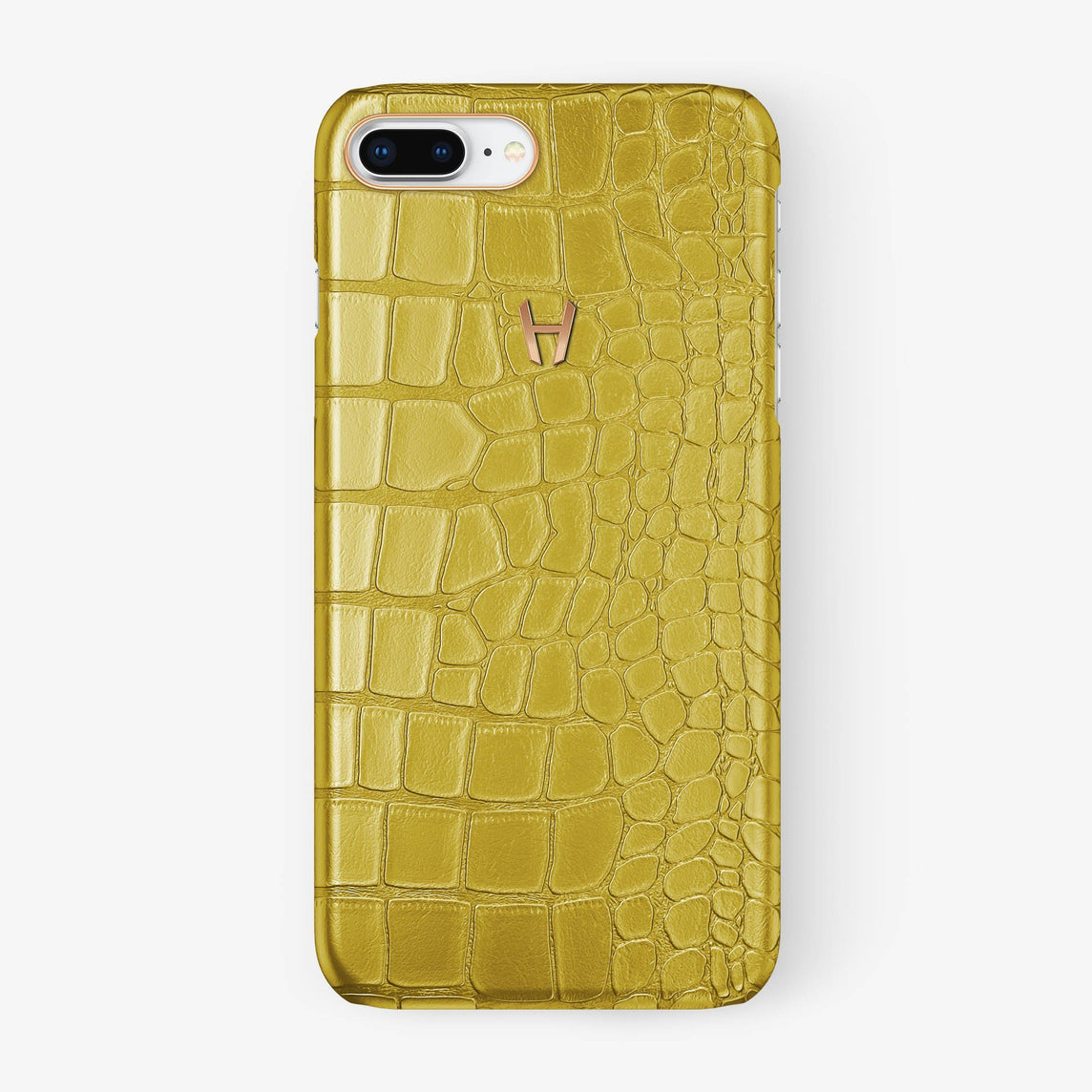 Alligator Case iPhone 7/8 Plus | Yellow - Rose Gold