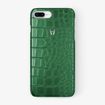 Alligator Case iPhone 7/8 Plus | Green - Stainless Steel - Hadoro