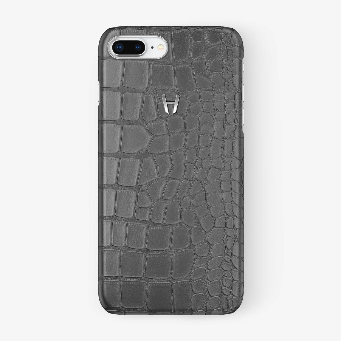 Alligator Case iPhone 7/8 Plus | Grey - Stainless Steel