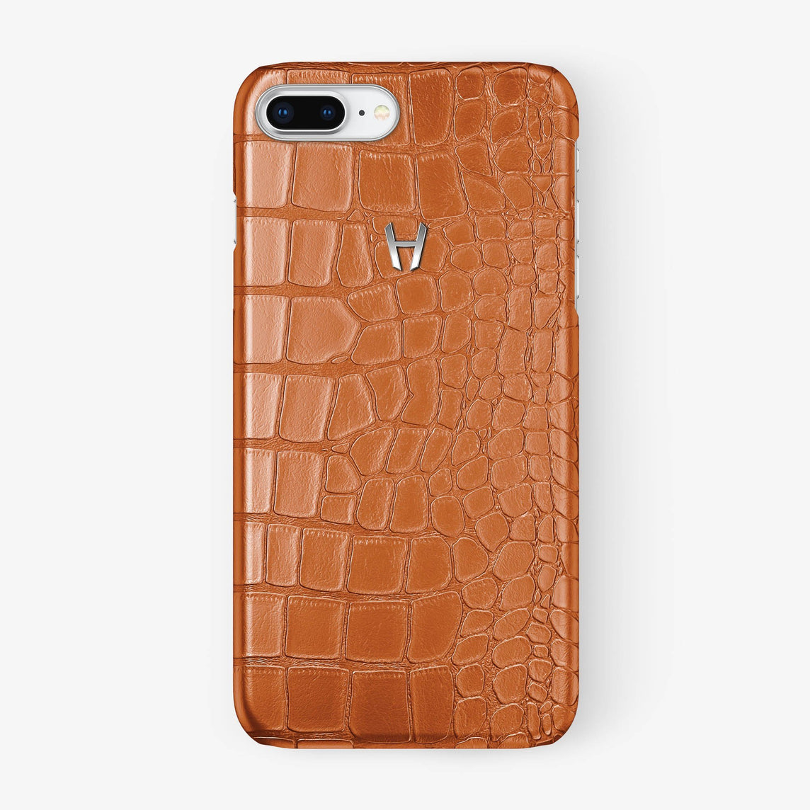 Alligator [iPhone Case] [model:iphone-7p-8p-case] [colour:orange] [finishing:stainless-steel] - Hadoro