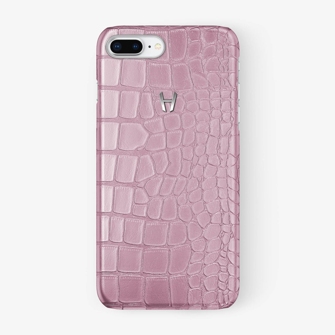Alligator Case iPhone 7/8 Plus | Pink - Stainless Steel