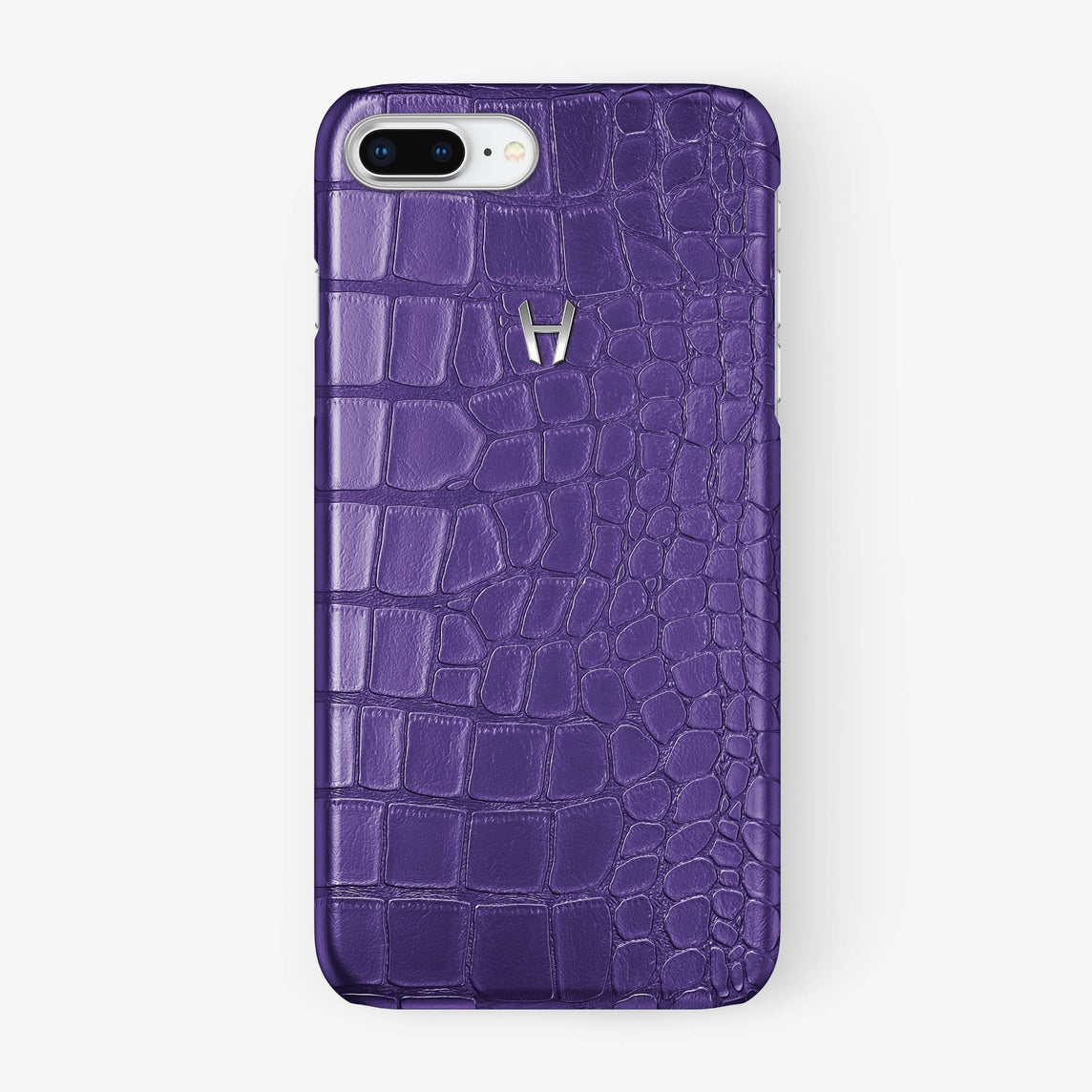 Alligator Case iPhone 7/8 Plus | Purple - Stainless Steel - Hadoro