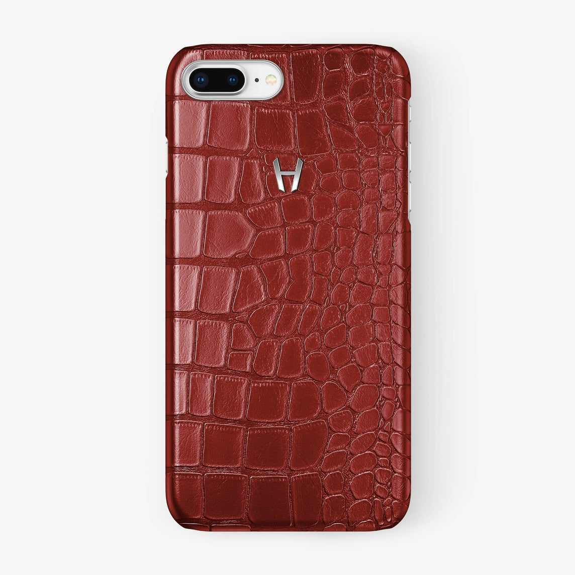 Alligator Case iPhone 7/8 Plus | Red - Stainless Steel - Hadoro