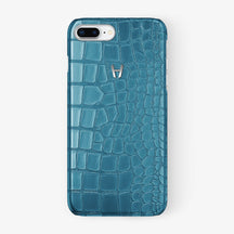 Alligator Case iPhone 7/8 Plus | Teal - Stainless Steel