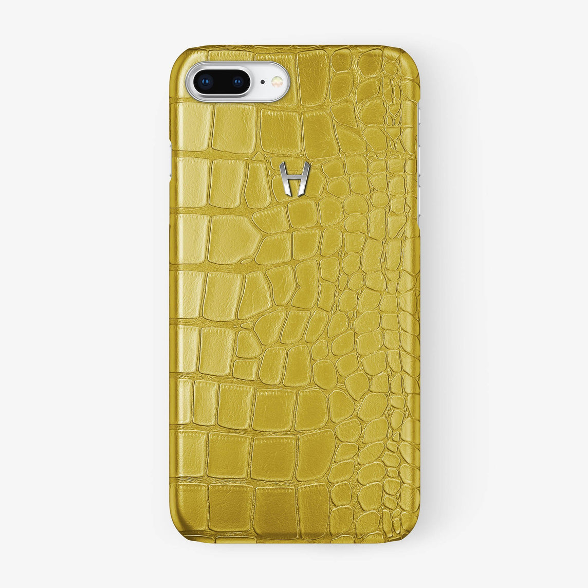 Alligator Case iPhone 7/8 Plus | Yellow - Stainless Steel - Hadoro