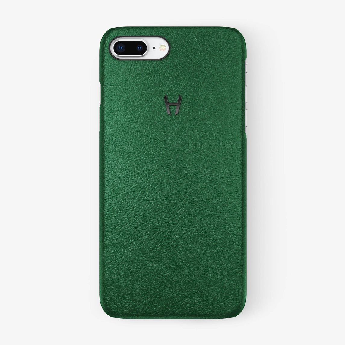 Calfskin Case iPhone 7/8 Plus | Green - Black without-personalization