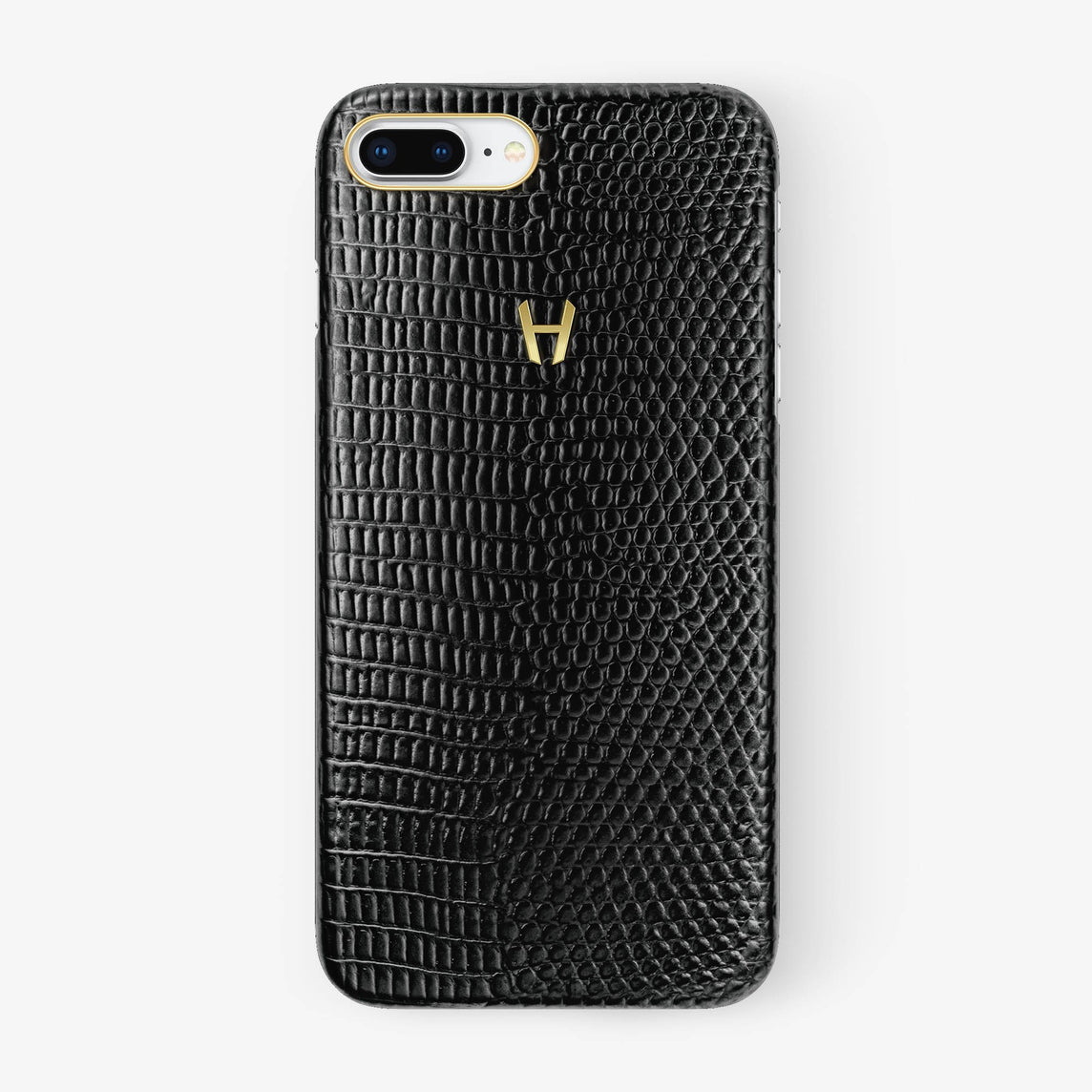 Lizard Case iPhone 7/8 Plus | Black - Yellow Gold without-personalization